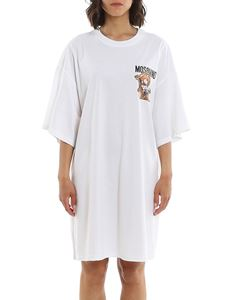 Moschino - Frame Teddy Bear dress in white