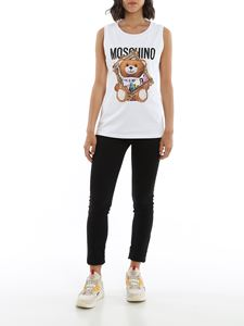 Moschino - Frame Teddy Bear tank top in white