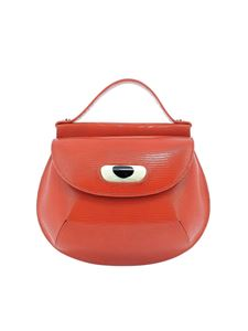 Marni - Cyclops reptile effect red bag in red