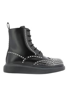 Alexander McQueen - Hybrid studded ankle boots in black