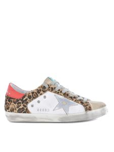 Golden Goose - Sneakers Superstar bianche con talloncino rosso