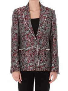 Golden Goose - Venice Paisley blazer in burgundy