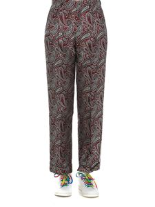 Golden Goose - Sally Paisley pants in burgundy