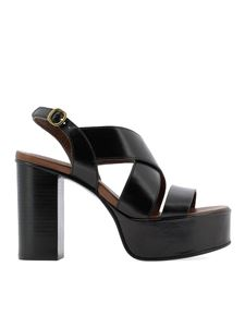 See by Chloé - Leather platform sandals in black