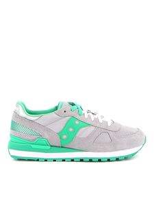 Saucony - Sneakers Shadow Original grigie e verdi