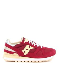 Saucony - Sneakers Shadow Original rosse e beige