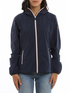 Save the duck - Rainy hooded windbreaker jacket in blue