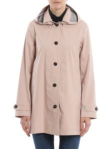 Save the duck - Recycled tech fabric trench coat in pink