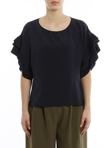 Chloé - Silk blouse with pleated sleeves