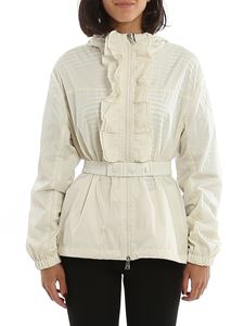 Moncler - Cinabre hooded windbreaker in ivory color