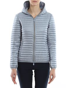 Save the duck - Hoodie down jacket in light blue