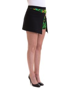 Versace Jeans Couture - Jungle print skirt effect shorts
