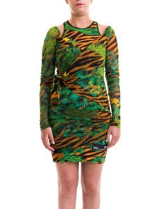 Versace Jeans Couture - Jungle print tulle dress