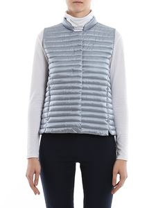 Save the duck - Water repellent padded waistcoat in light blue