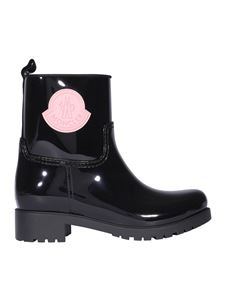 Moncler - Logo patch rubber boots in black