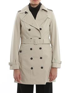Save the duck - Recycled tech fabric trench in beige