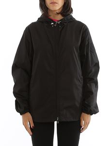 Moncler - Alexandrite hooded black windbreaker