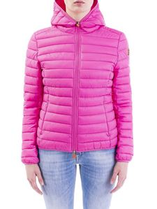 Save the duck - Quilted hoodie down jacket in pink