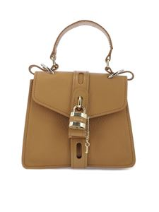 Chloé - Aby small leather bag in beige