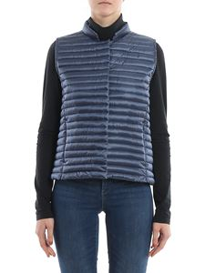 Save the duck - Padded nylon waistcoat in blue