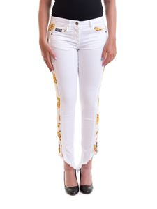Versace Jeans Couture - Patterned bands jeans in white