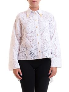 Versace Jeans Couture - Floral asymmetric shirt in white