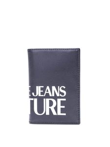 Versace Jeans Couture - Logo lettering bifold card holder in black
