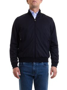 Corneliani - Wool bomber jacket in blue
