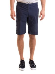 Corneliani - Bermuda in cotone stretch blu