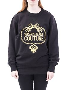 Versace Jeans Couture - Baroque embroidery sweatshirt in black