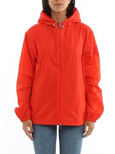 Moncler - Alexandrite hooded windbreaker in orange