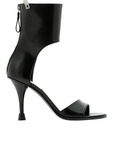 Premiata - Leather boot sandals in black
