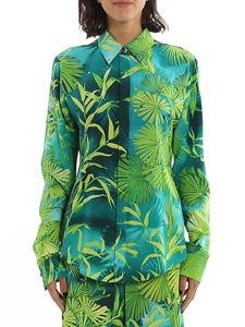 Versace - Floral print shirt in green