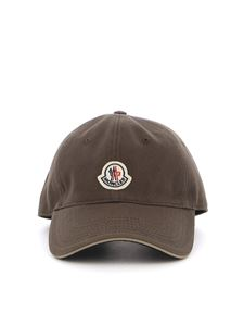 Moncler - Baseball cap in green with logo patch