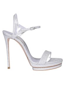 Casadei - City Light glittery sandals in silver