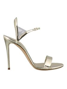 Casadei - Blade metallic leather sandals in gold