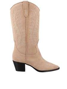 Paris Texas - Embroidered boots in beige