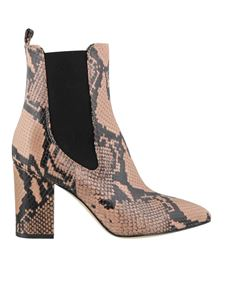 Paris Texas - Python print ankle boots in pink