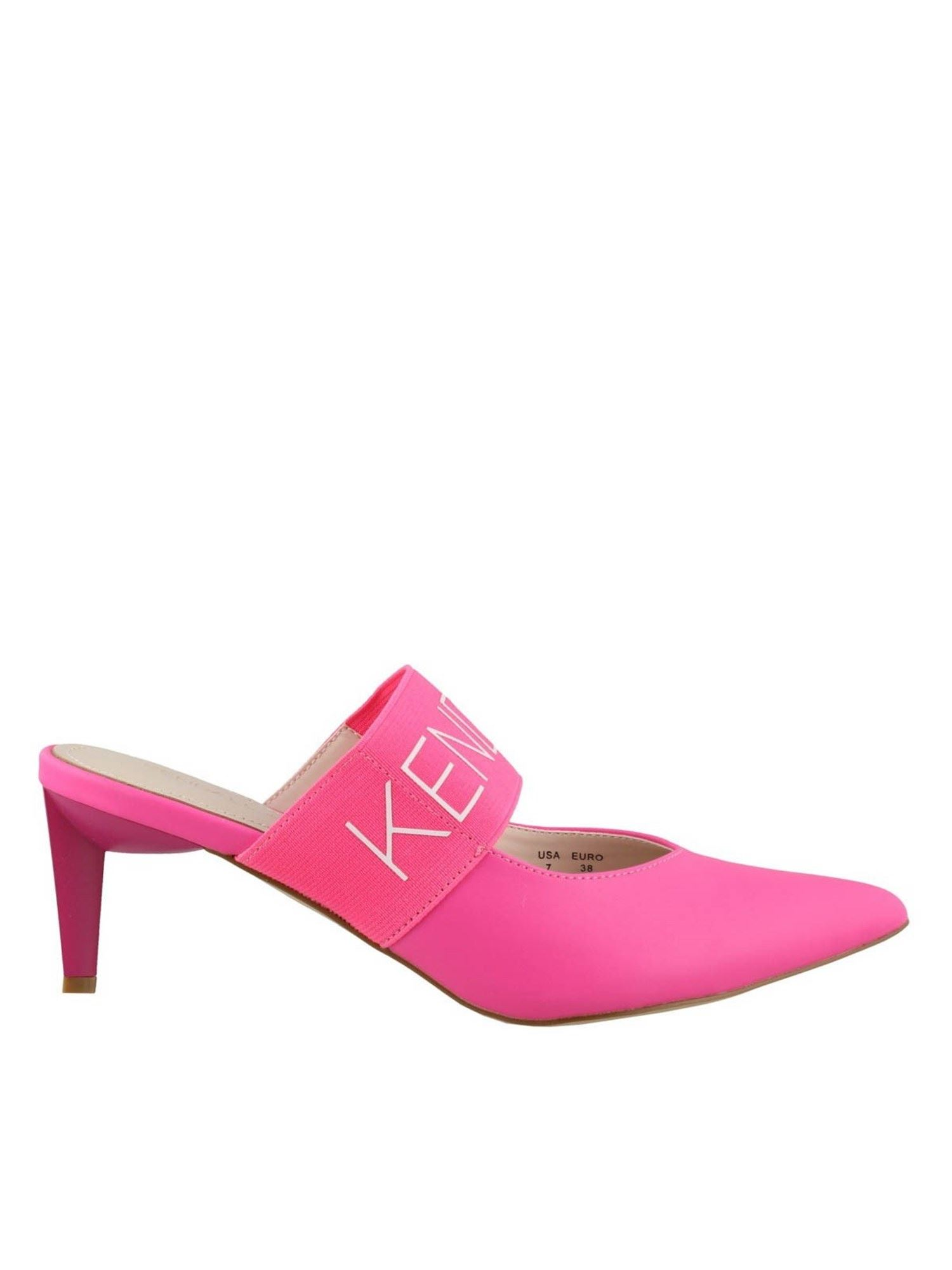 Kendall + Kylie LACEY MULES IN FUCHSIA