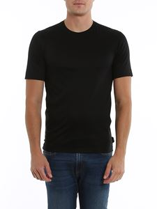 Z Zegna - T-shirt nera in jersey satin