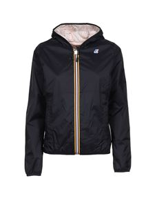 K-way - Lily Plus Double jacket black and pink