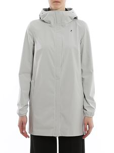 K-way - Sophie Nylon.dot long jacket in grey