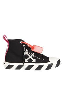 Off-White - Two-tone sole canvas sneakers