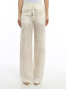 Off-White - Pantaloni da jogging in raso jacquard