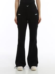 Off-White - Active zipped wide leg tracksuit pants
