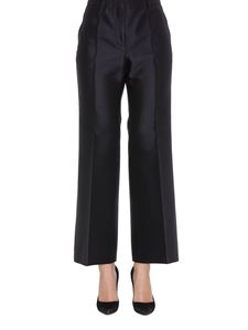 Givenchy - Taffeta flared trousers in blue
