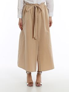 Givenchy - Taffeta wide skirt in beige