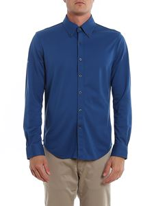 Brooks Brothers - Cotton piquet shirt in blue