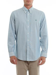 Brooks Brothers - Logo embroidery striped cotton shirt