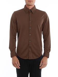 Brooks Brothers - Logo shirt in brown